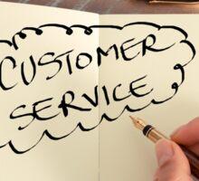 Motivational concept with handwritten text CUSTOMER SERVICE Sticker