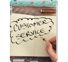 Motivational concept with handwritten text CUSTOMER SERVICE iPad Case/Skin
