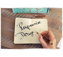 Motivational concept with handwritten text RESPONSIVE DESIGN Poster