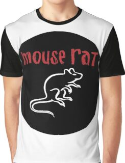 Mouse Rat Logo Graphic T-Shirt