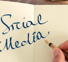 Motivational concept with handwritten text SOCIAL MEDIA Sticker