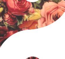 Flower Ying Yang Symbol Sticker