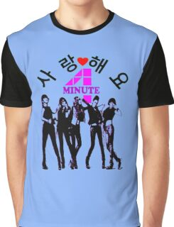 ♥♫SaRangHaeYo(Love) Hot Fabulous K-Pop Girl Group-4Minute Clothes & Phone/iPad/Laptop/MackBook Cases/Skins & Bags & Home Decor & Stationary & Mugs♪♥ Graphic T-Shirt