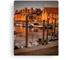 Bathed in golden light - Blakeney quay  Canvas Print