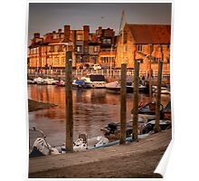 Bathed in golden light - Blakeney quay  Poster