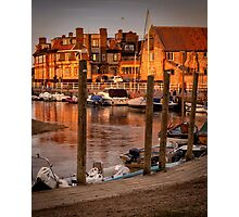 Bathed in golden light - Blakeney quay  Photographic Print