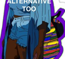 Black Girls can be Alternative Too Sticker