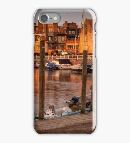 Bathed in golden light - Blakeney quay  iPhone Case/Skin