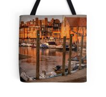 Bathed in golden light - Blakeney quay  Tote Bag