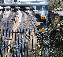Edinburgh Railway Station - 1987 by stevefreestone