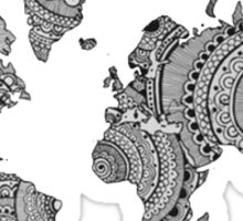 World Map Hand drawn Sticker