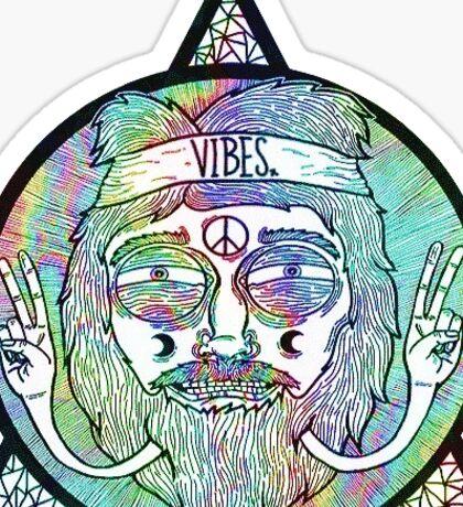 Good Vibes Hippie Triangle Iluminati Sticker