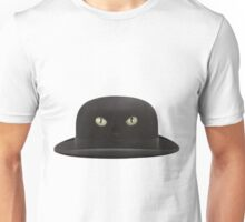 Black Cat Hat Unisex T-Shirt