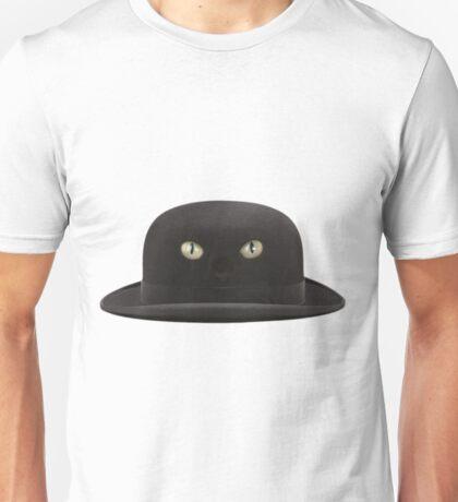 Black Cat Hat Unisex T-Shirt