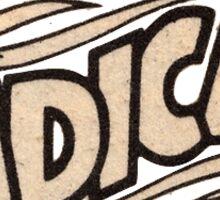 'Radical' Wording Sticker