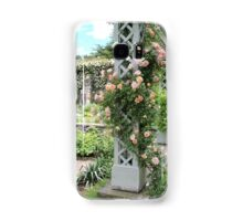 Peach & Green Trellis Samsung Galaxy Case/Skin