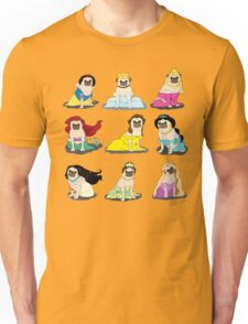 Pug Princesses Version 2 Unisex T-Shirt