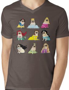 Pug Princesses Version 2 Mens V-Neck T-Shirt