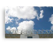 Blue Sky over Leeds United FC Canvas Print