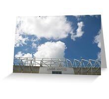Blue Sky over Leeds United FC Greeting Card