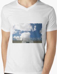 Blue Sky over Leeds United FC Mens V-Neck T-Shirt