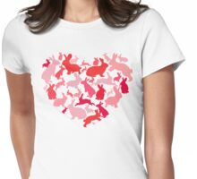 Rabbit Love Womens Fitted T-Shirt