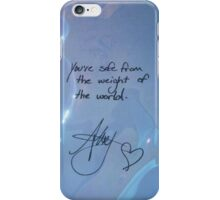 "All Time Low ""You're safe from the weight of the world"" - Alex Gaskarth Signature iPhone Case/Skin"