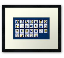 Post Alphabet Framed Print
