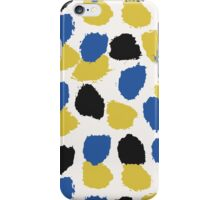 Blue, Yellow & Black Abstract iPhone Case/Skin