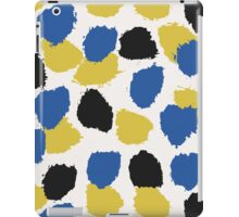 Blue, Yellow & Black Abstract iPad Case/Skin