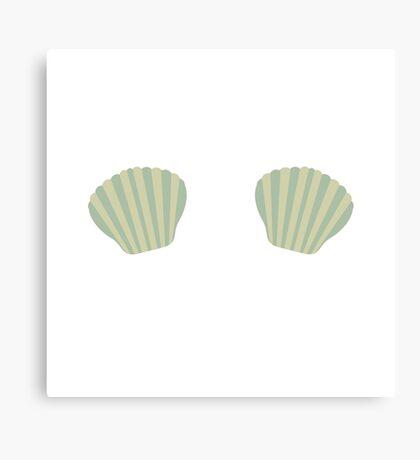 Green Mermaid Bikini Canvas Print
