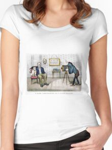 A dark foreshading - on a flash picture - 1890 Women's Fitted Scoop T-Shirt