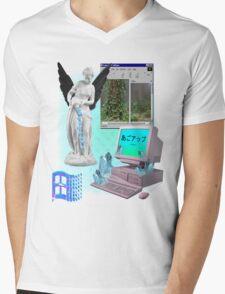 Dark Angel Vaporwave Aesthetics Mens V-Neck T-Shirt