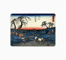 Chiryu - Hiroshige Ando - 1848 - woodcut Unisex T-Shirt