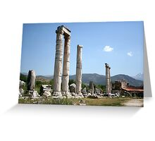 Ionic Columns of The Temple of Aphrodite Greeting Card
