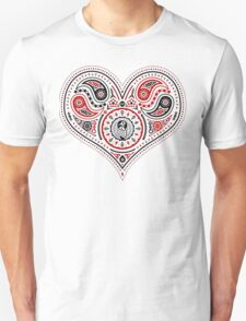 Hearts (Red & Black) Unisex T-Shirt