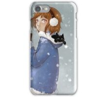 Playing together in the snow iPhone Case/Skin