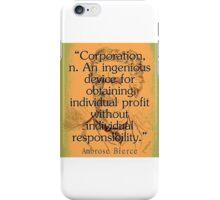 Corporation - Bierce iPhone Case/Skin