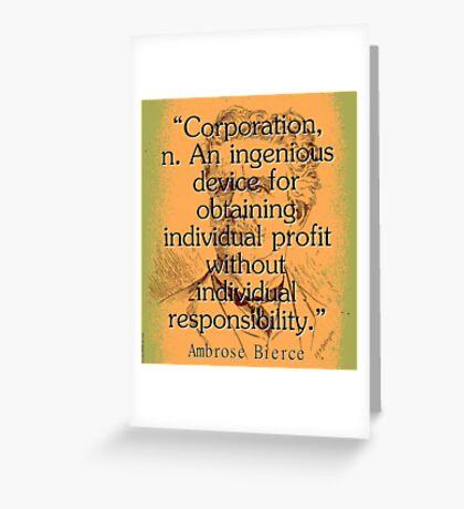 Corporation - Bierce Greeting Card