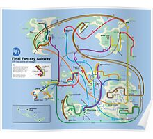 Final Fantasy Subway - NES Maps Series Poster