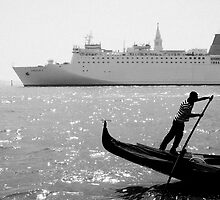 Two Boats, Venice Italy. by VanOostrum