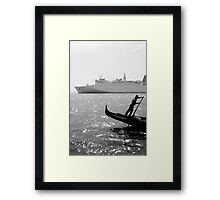 Two Boats, Venice Italy. Framed Print