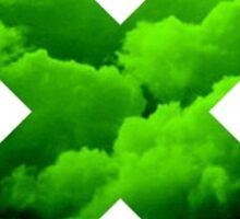 Green Cloud X (Multiply) Sticker