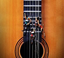 Surreal Guitar Climbers by Kitty Bitty
