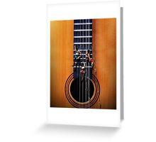 Surreal Guitar Climbers Greeting Card
