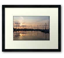 Crepuscular Rays - Golden Sunbeams Sunset Framed Print