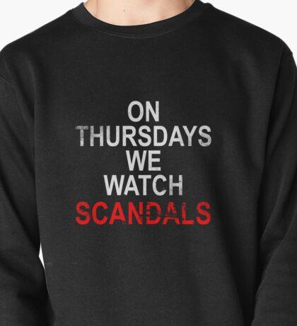 On Thursdays we watch scandals for dark Pullover