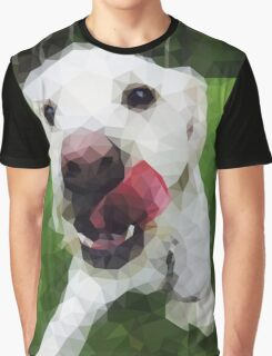 Polygon Dog Art Graphic T-Shirt