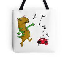 Weird Lizard loves to dance! Tote Bag