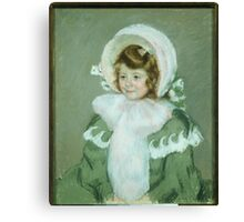 Mary Cassatt,  Child in Green Coat Canvas Print